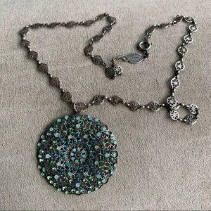 ❤️Catherine Popesco❤️France Medallion Necklace